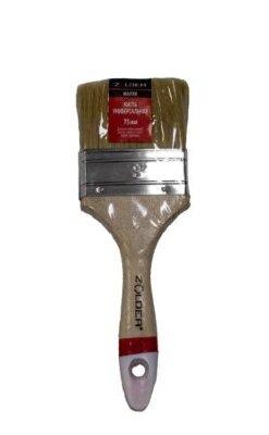 Кисть универсальная плоская 75 х 15 мм, смеш.щетина, дерев.ручка Zolder Master