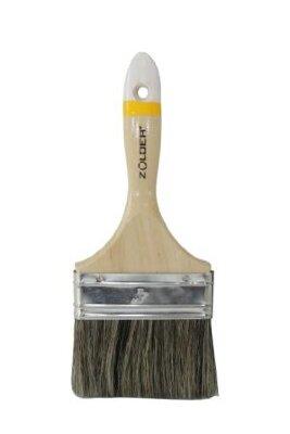 Кисть для алкидных эмалей и грунтовок плоская 63 х 14 мм, смеш.щетина, дерев.ручка Zolder Master