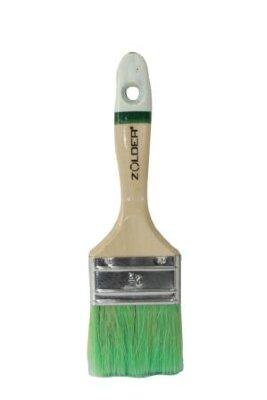 Кисть для антисептиков и лазурей плоская 75 х 15 мм, смеш.щетина, дерев.ручка Zolder Master