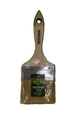 Кисть плоская Армейская Полковник 75 х 12 мм, натур.щетина, дерев.ручка Zolder