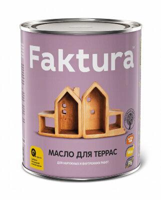 Faktura тунговое террасное масло с натуральным воском для наружных и внутренних работ