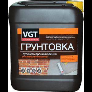 Грунтовка глубокого проникновения для наружных и внутренних работ VGT