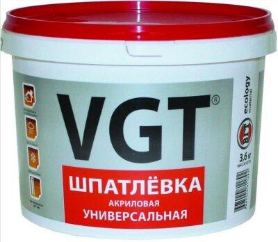 Шпаклевка универсальная акриловая для нару/внутр работ  влагостойкая  VGT
