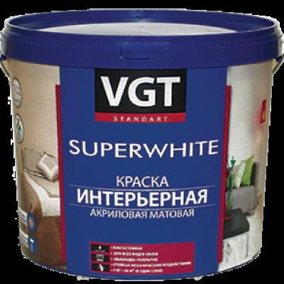 Краска ВД интерьерная супербелая влагостойкая  VGT